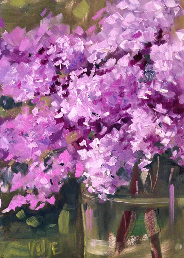 """#75 Lovin' Lilacs"" original fine art by Patty Voje"