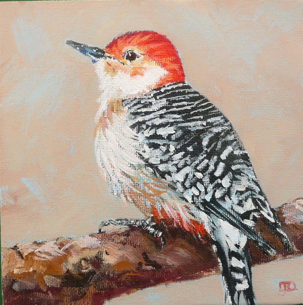 """Red Bellied Woodpecker"" original fine art by Leanne Owen"