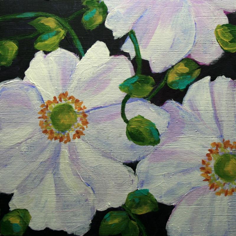 """Wild Roses"" original fine art by Jean Nelson"