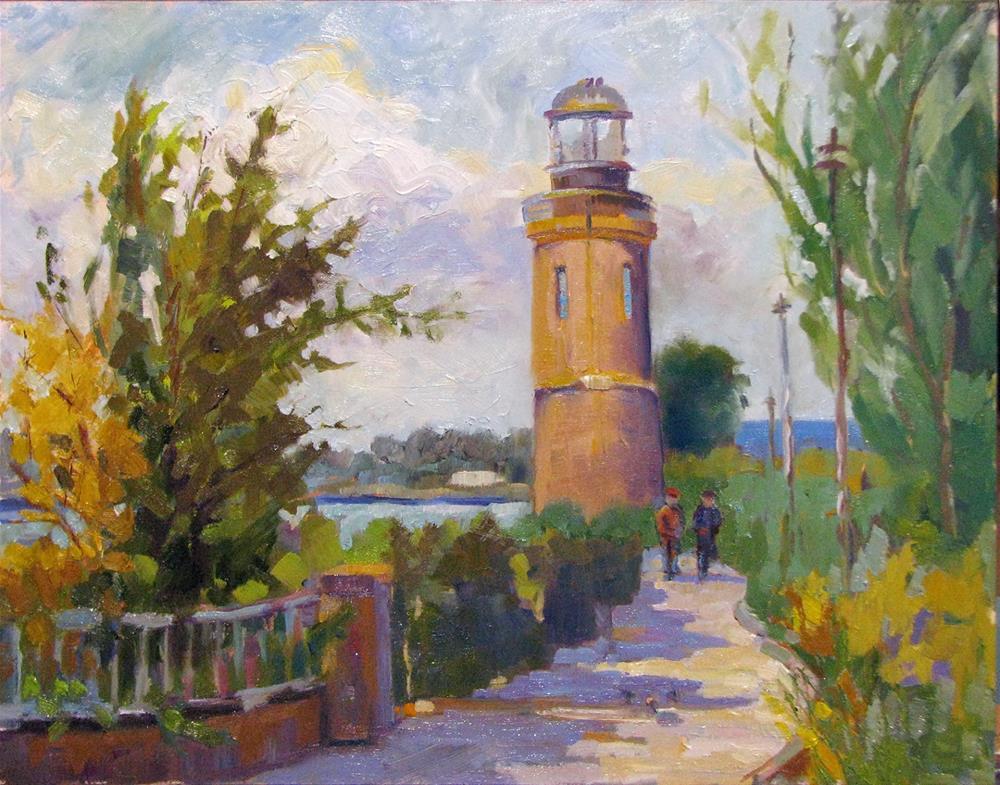 """Clover Island Stroll"" original fine art by Laura Gable"