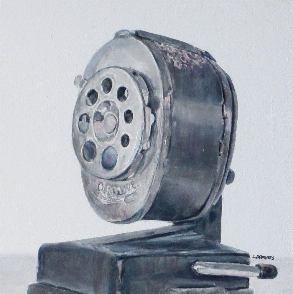 """""""Pencil Sharpener"""" original fine art by Linda Demers"""
