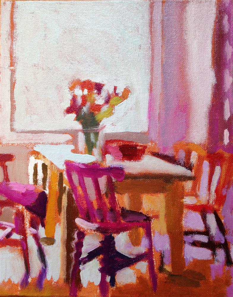"""Chairs of Happiness"" original fine art by Pamela Hoffmeister"