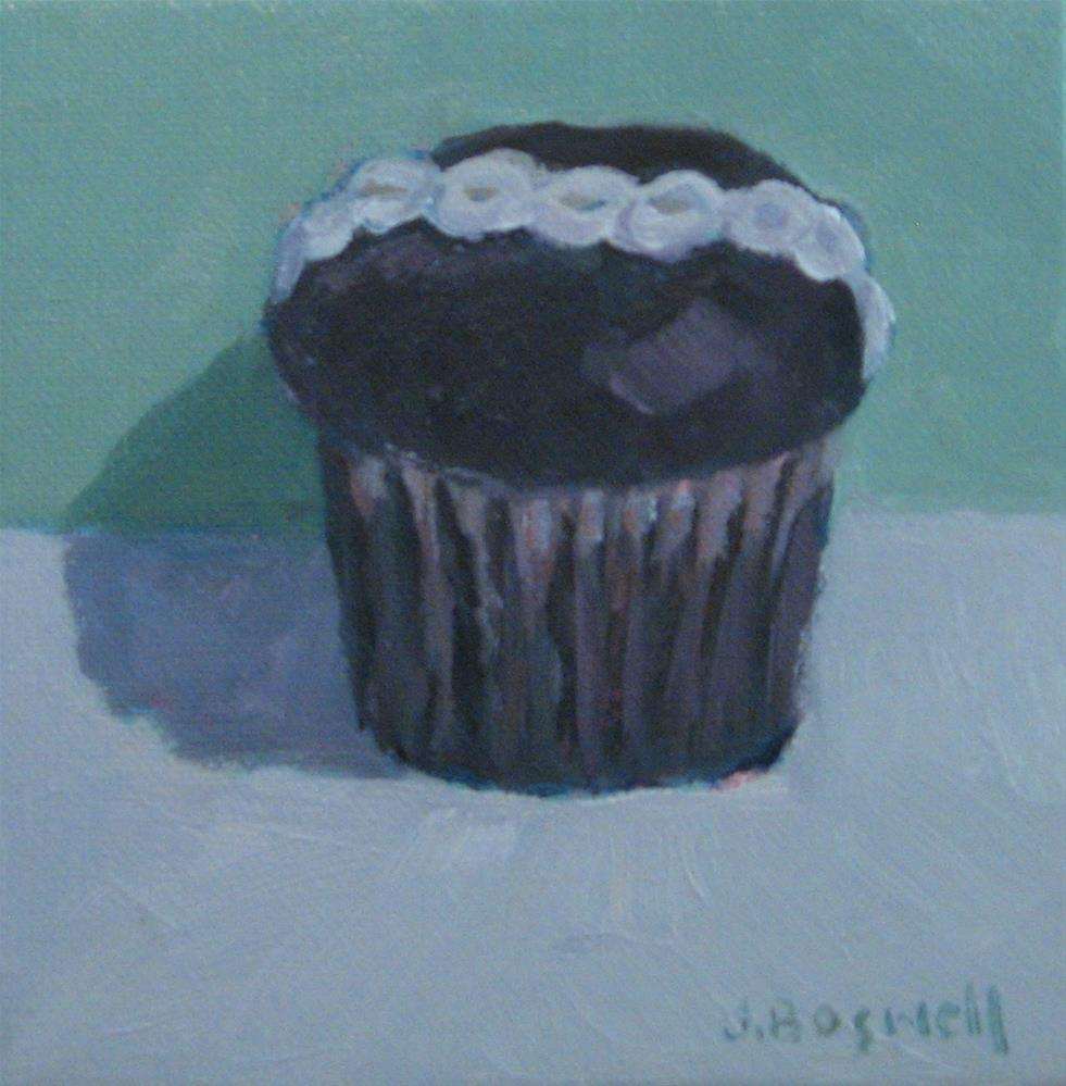"""Chocolate Hostess Cupcake Series 3"" original fine art by Jennifer Boswell"