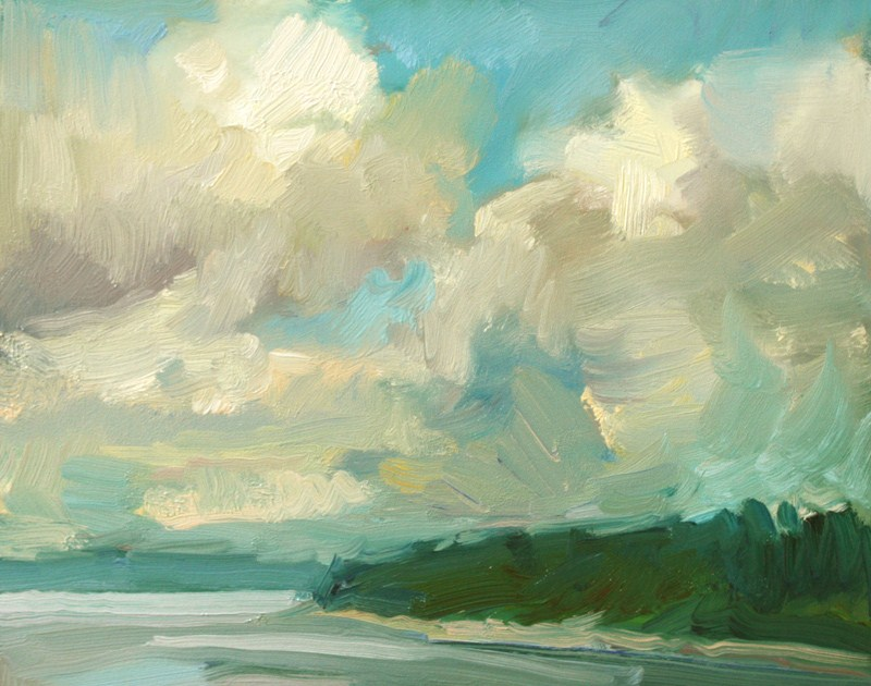 """Zangle Clouds"" original fine art by Kathryn Townsend"