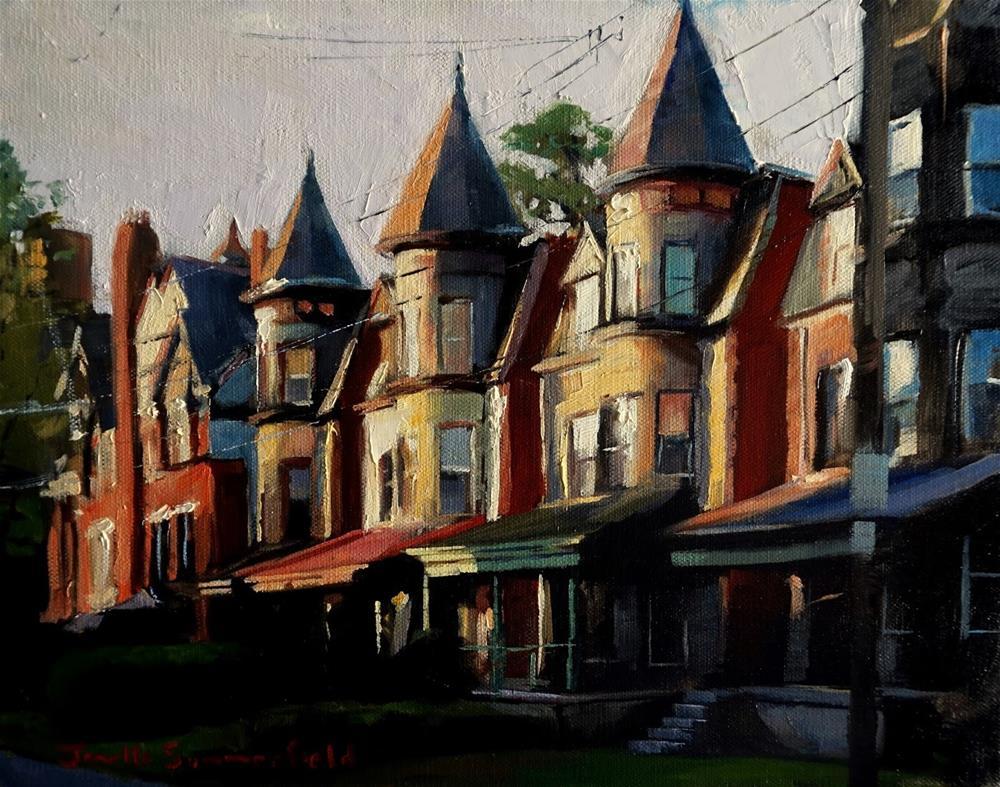 """""""Houses in Shadyside"""" original fine art by Jonelle Summerfield"""