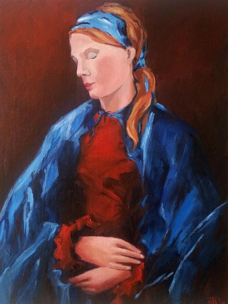 """DCS #29 Thinking of the world today"" original fine art by Olga Touboltseva-Lefort"