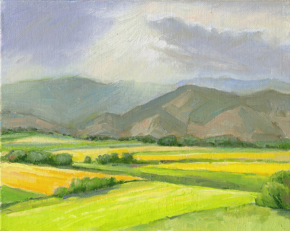 """Advancing Rain"" original fine art by Kath Reilly"