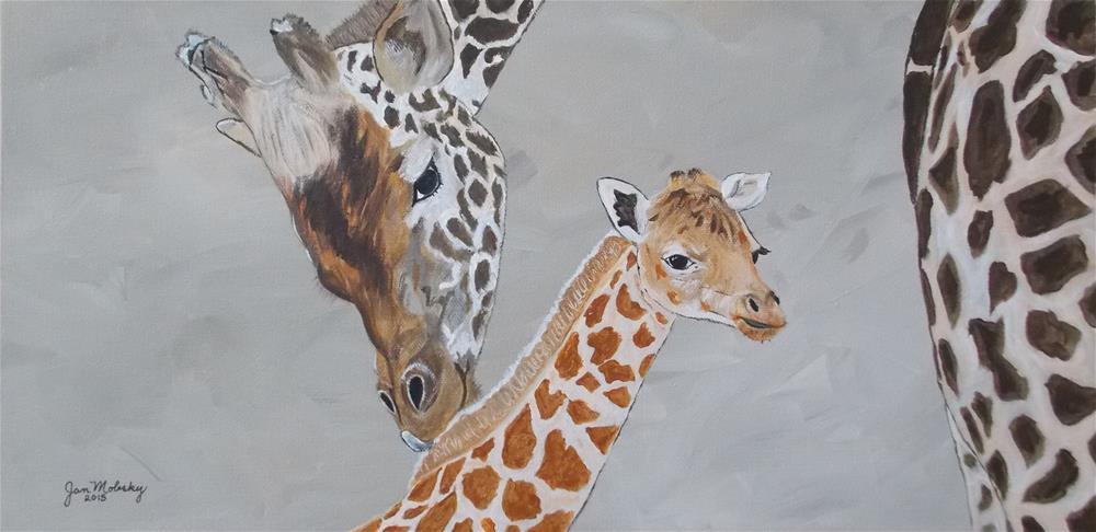 """""""Bonding II"""" original fine art by Jan Molesky"""
