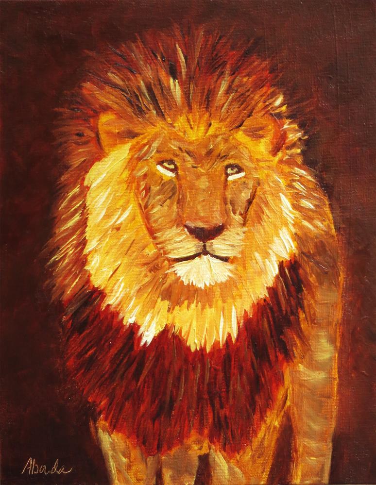 """Lion"" original fine art by Sandy Abouda"