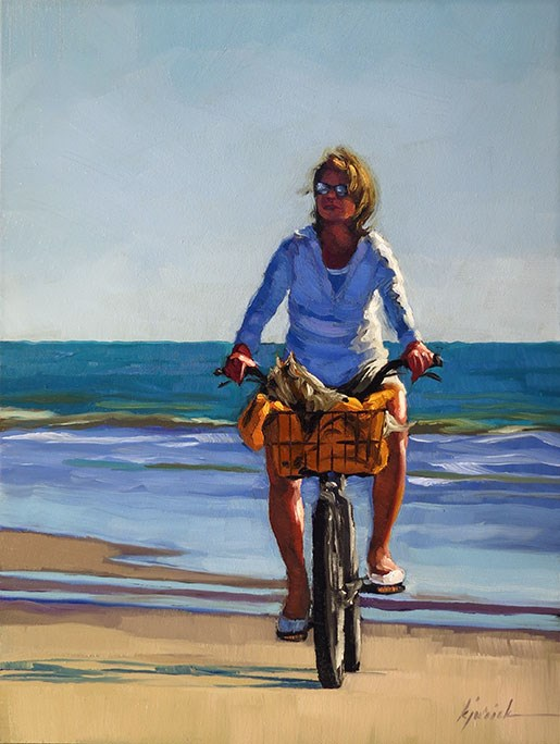 """Bicycle For Two"" original fine art by Karin Jurick"