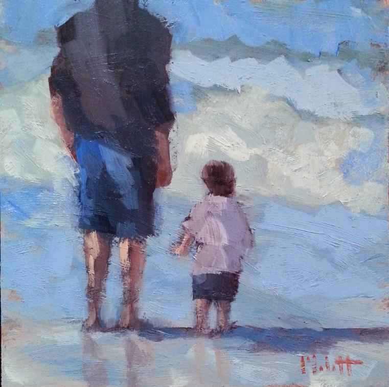 """Father and Son Portrait Original Painting Contemporary Impressionism"" original fine art by Heidi Malott"