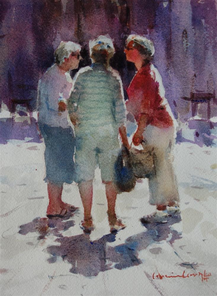 """The Huddle"" original fine art by Lorraine Lewitzka"