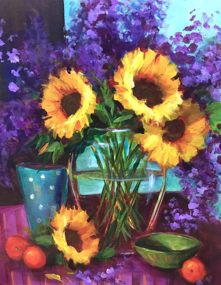 """Heart Song Sunflowers - Nancy Medina Art Videos and Classes"" original fine art by Nancy Medina"
