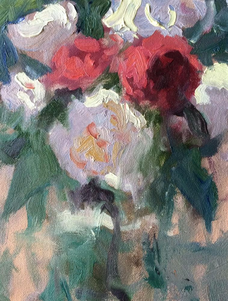 """Red and White Flowers "" original fine art by Michael Clark"