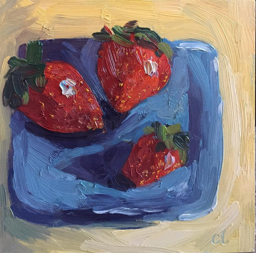 """Berry Proud"" original fine art by Cheree Apalona Lueck"