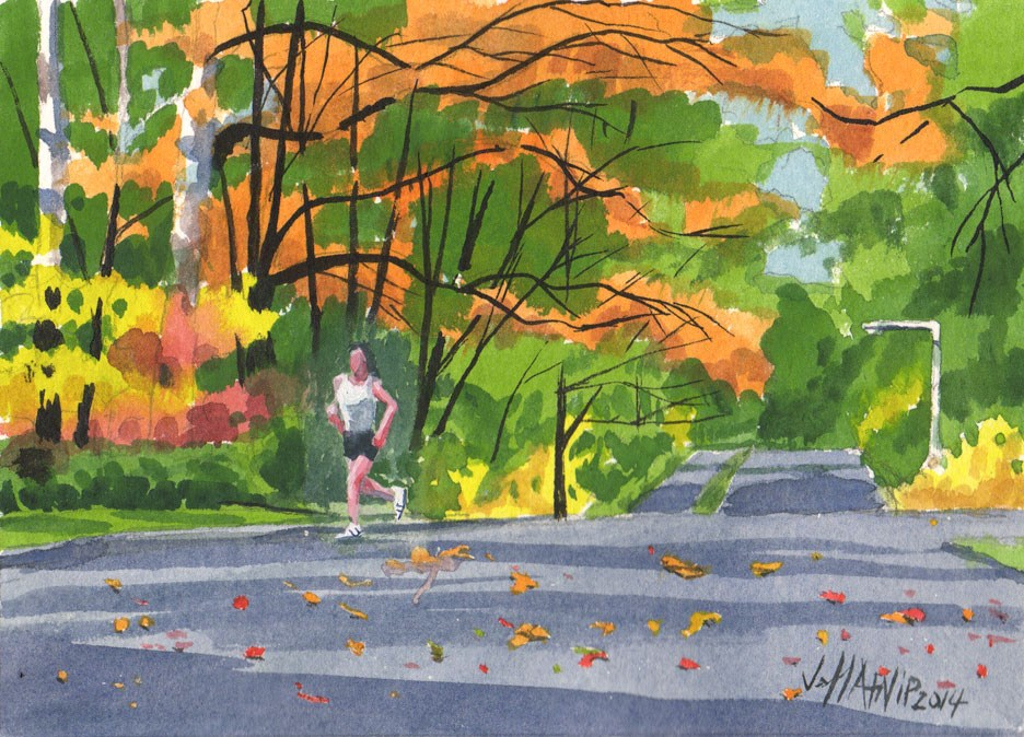 """Autumn Run"" original fine art by Jeff Atnip"