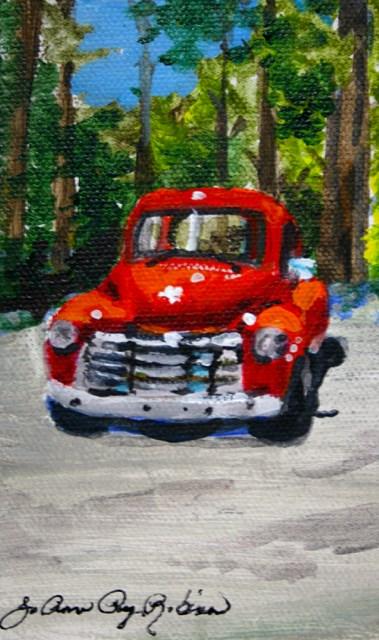 """Really Red"" original fine art by JoAnne Perez Robinson"