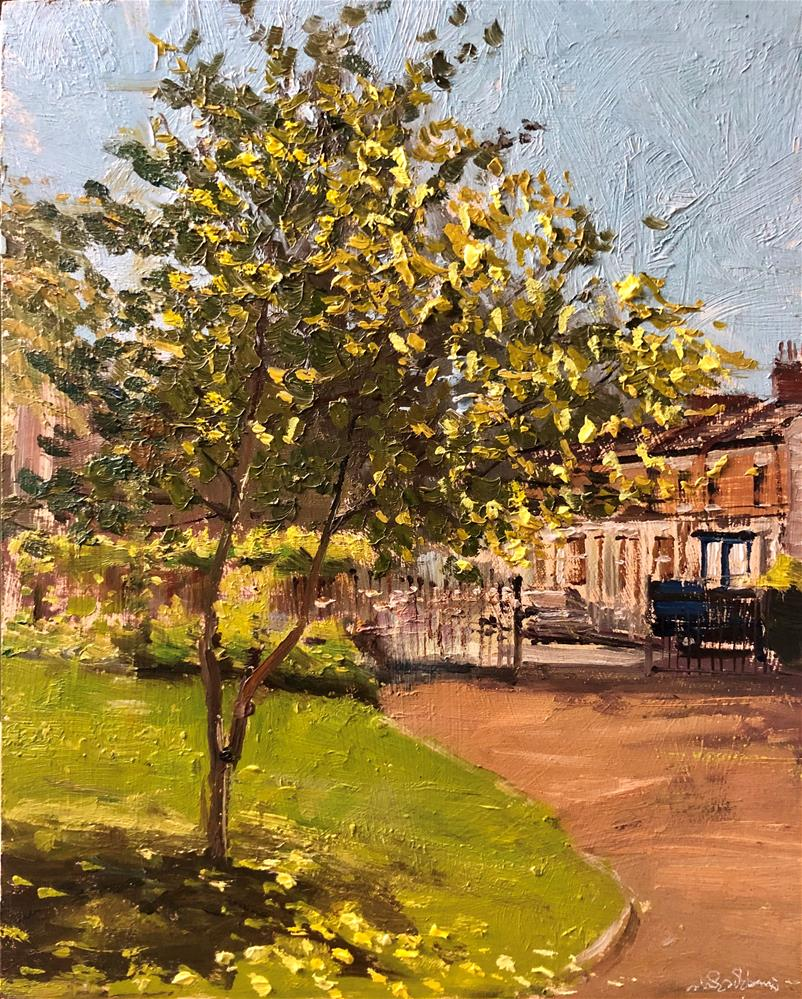 """Spring is Here!!(Westfield Park, Chelsea)"" original fine art by Adebanji Alade"