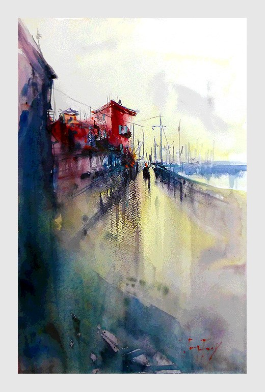 """Hafen"" original fine art by Jurij Frey"