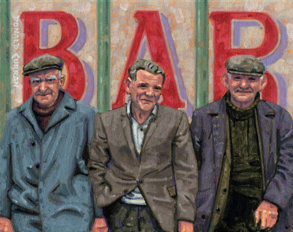 """Three Old Irish Guys"" original fine art by Donald Curran"
