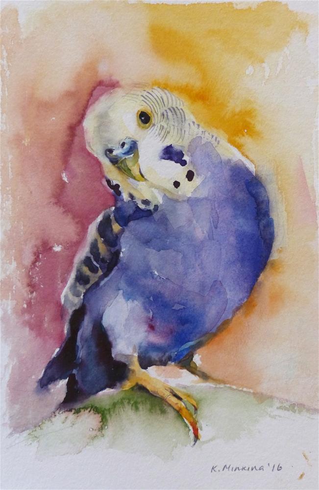 """budgie23"" original fine art by Katya Minkina"