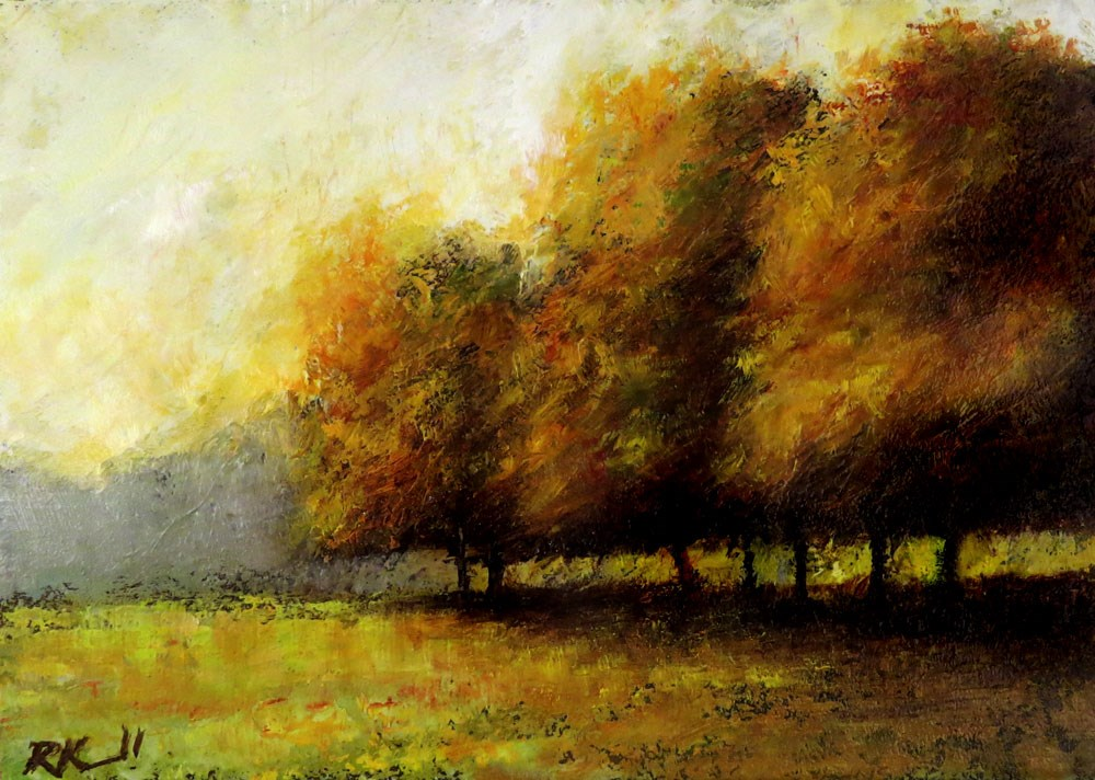 """A Group of Trees in the Park"" original fine art by Bob Kimball"