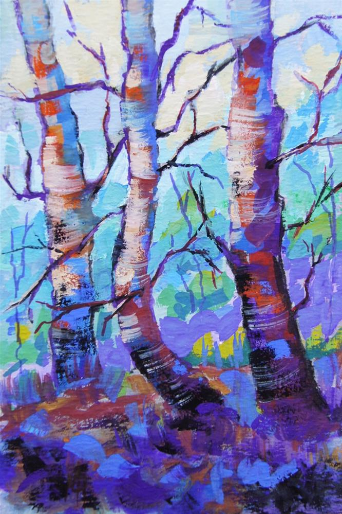 """Kaleidoscope trees"" original fine art by Marion Hedger"