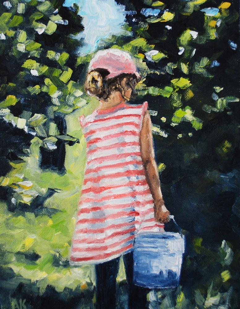 """Berry Picking"" original fine art by Alison Kolkebeck"