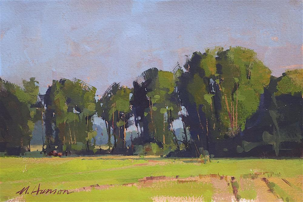 """Treeline Afternoon"" original fine art by Marc Hanson"