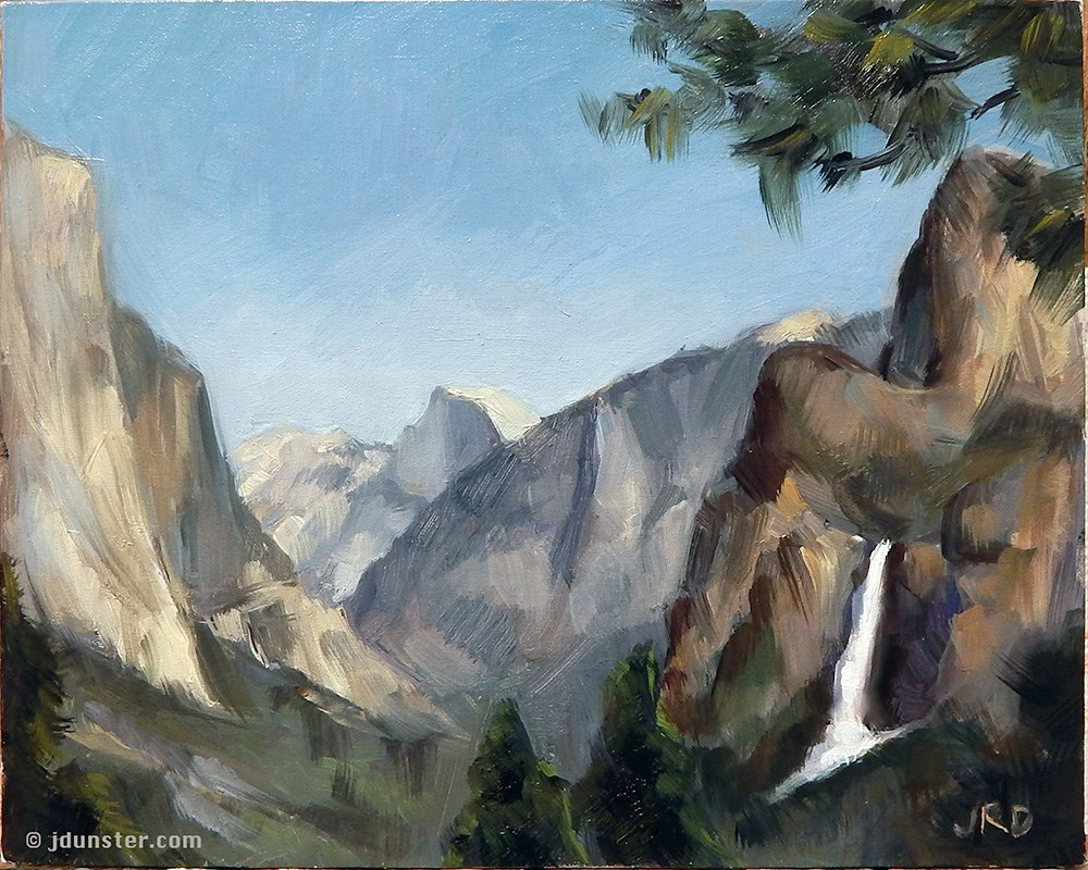 """Yosemite - Tunnel View"" original fine art by J. Dunster"