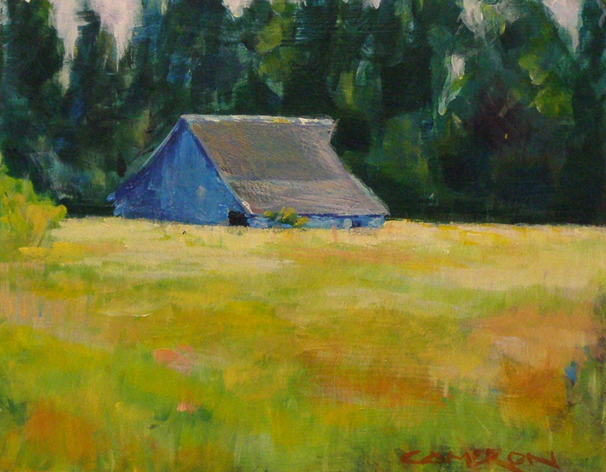 """HILLTOP FARM"" original fine art by Brian Cameron"