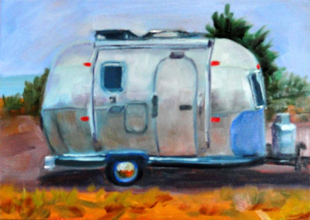 """Airstream Land Yacht"" original fine art by Cietha Wilson"