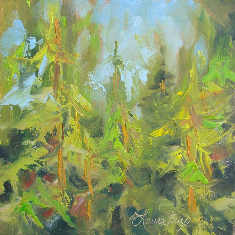 """Keeping it Green - 406"" original fine art by Laura  Buxo"
