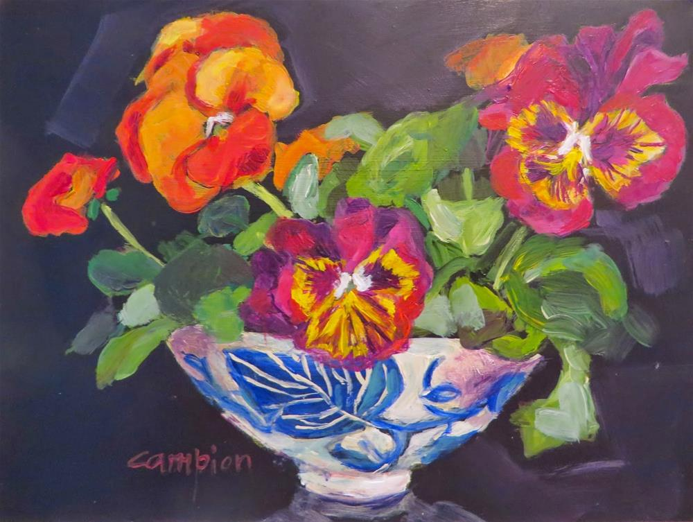 """599 Bringing Spring Inside"" original fine art by Diane Campion"