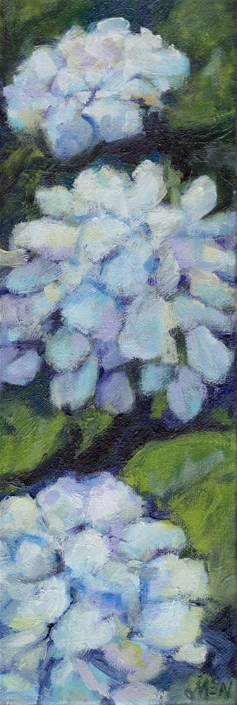 """Hydrangeas"" original fine art by Michel McNinch"