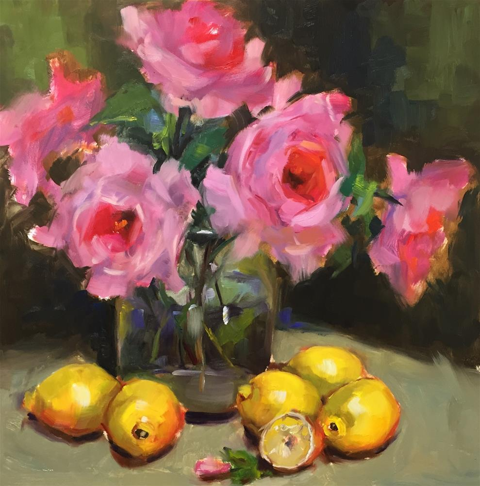 """Backyard Roses"" original fine art by Laurie Johnson Lepkowska"