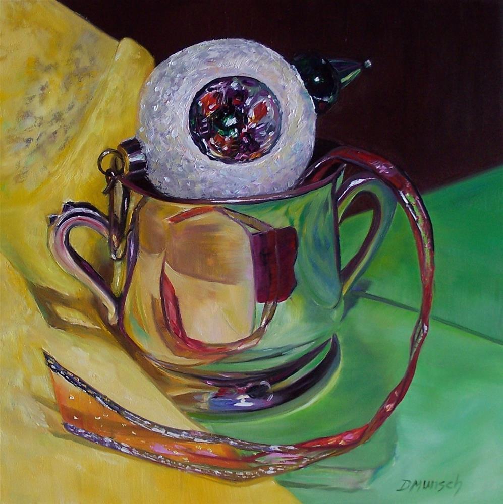 """""""Glass Snowball Ornament"""" original fine art by Donna Munsch"""