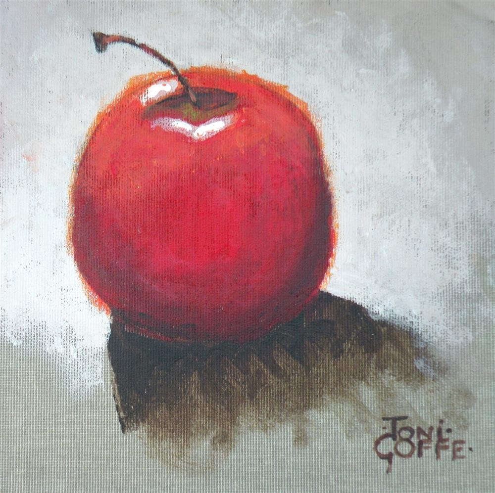 """Backlit Apple"" original fine art by Toni Goffe"