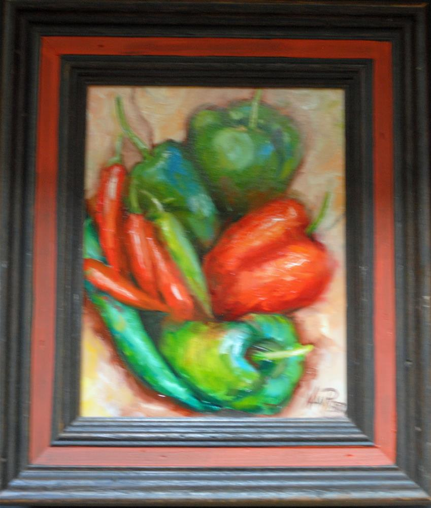 """Peppers"" original fine art by Nan Perry"