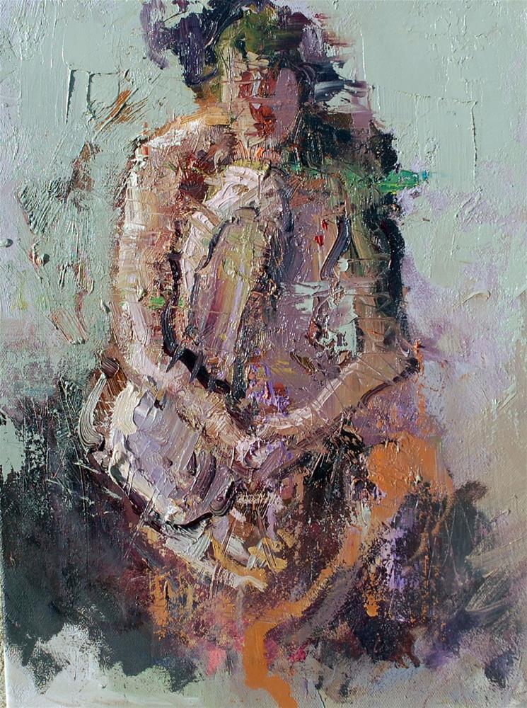 """Abstract Nude"" original fine art by Mostafa Keyhani"