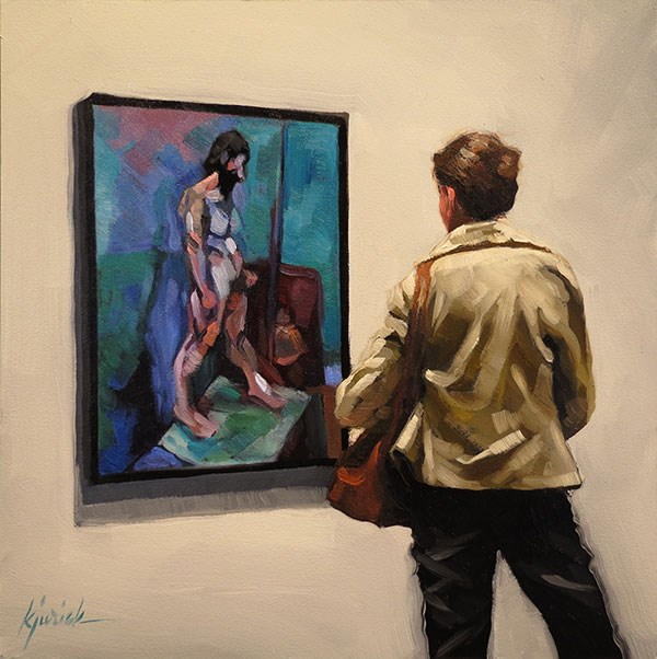 """First Class Male"" original fine art by Karin Jurick"