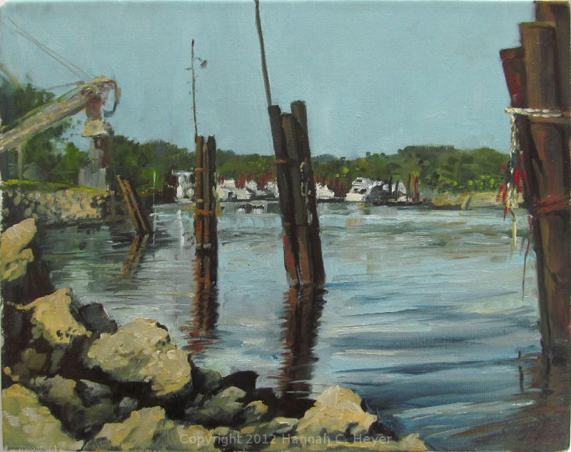 """Pilings"" original fine art by Hannah C. Heyer"