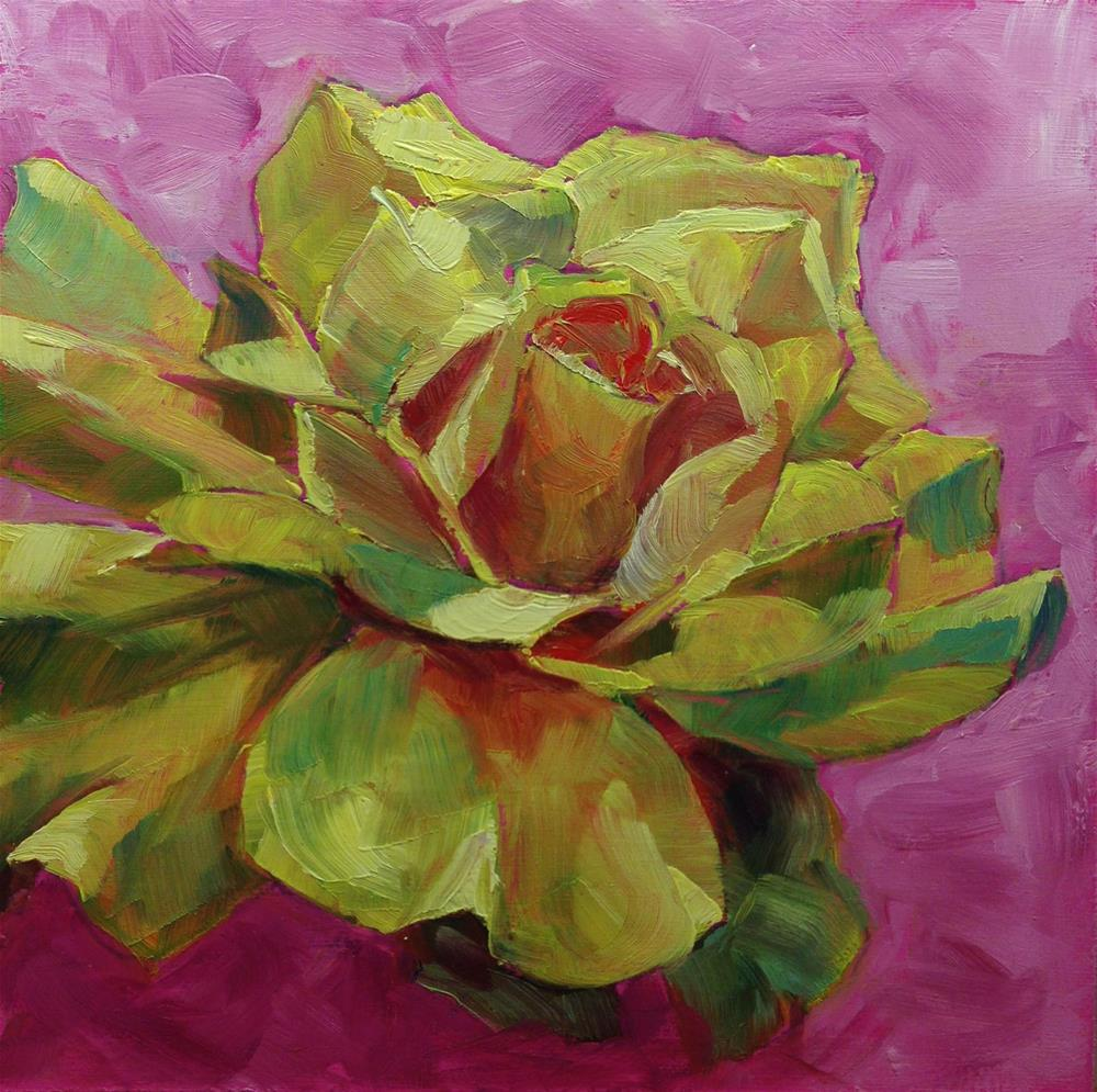 """Yellow Rose of..."" original fine art by Eileen Hennemann"