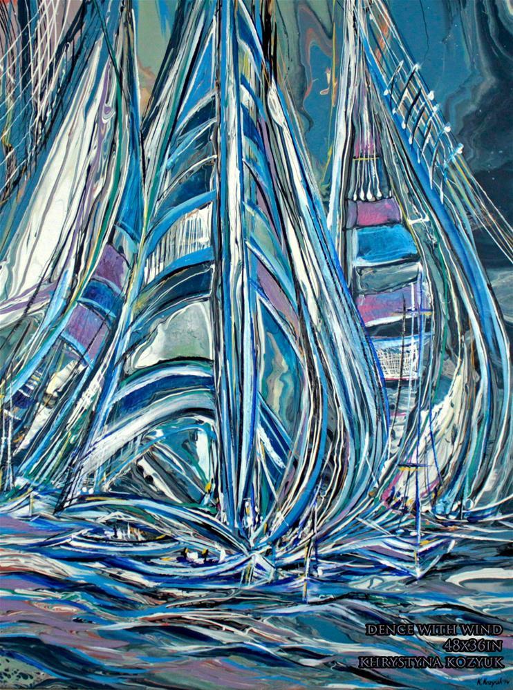 """""""Dance With Wind"""" original fine art by Khrystyna Kozyuk"""