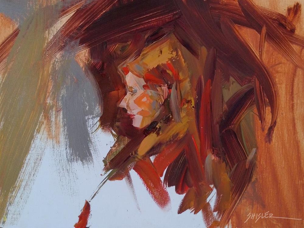 """Joy in Red by Sally Shisler"" original fine art by Sally Shisler"