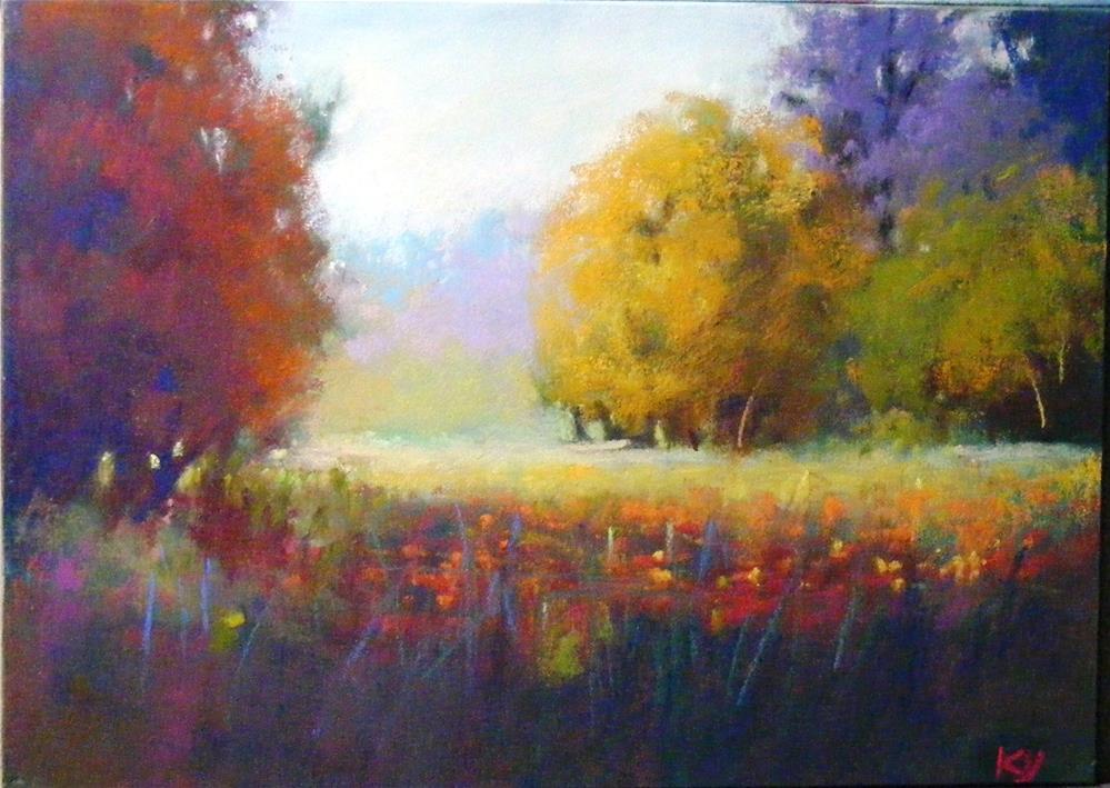 """Sunny Spot"" original fine art by Celine K.  Yong"