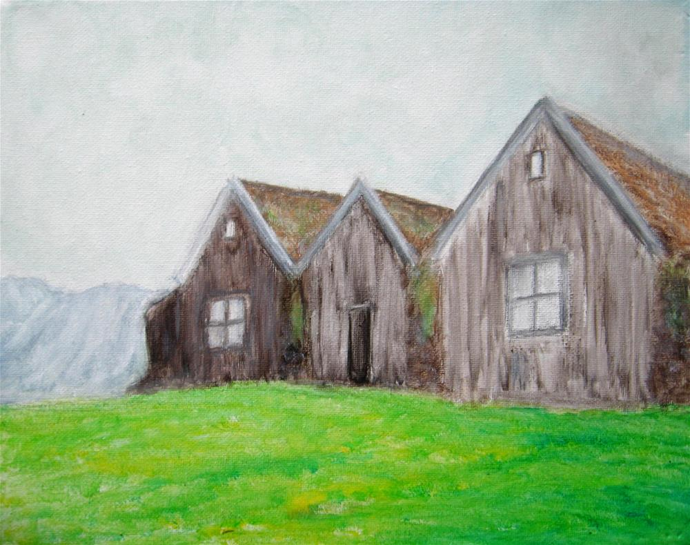 """The Three Houses"" original fine art by Alina Frent"