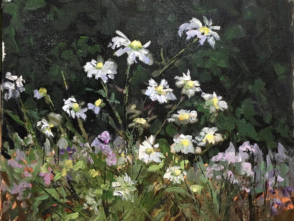 """Daisies in the field"" original fine art by Judith Anderson"