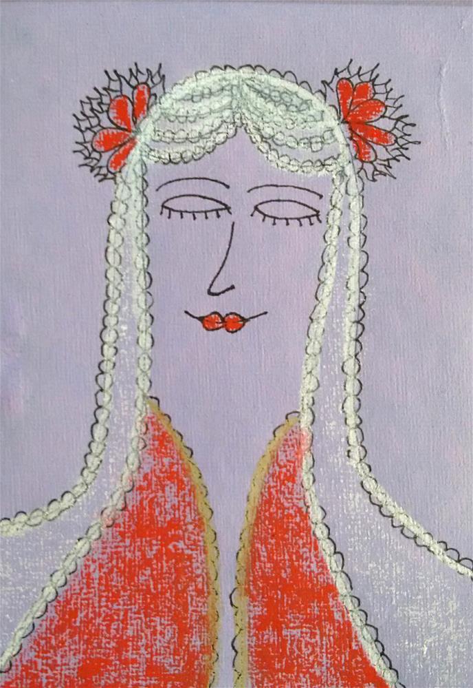 """""""Bride"""" original fine art by Adéla Svobodová"""