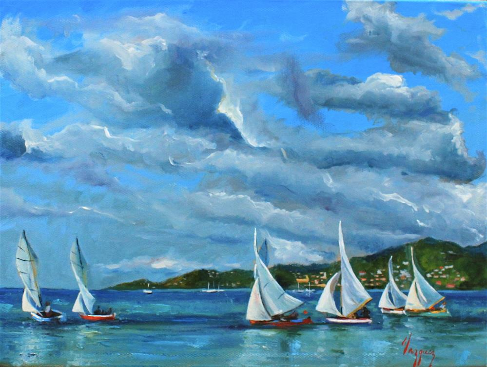 """Sailing"" original fine art by Marco Vazquez"